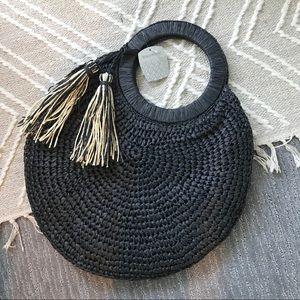 Black Seagrass Handbag